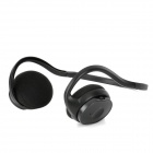 KP-11 Rechargeable Sports MP3 Player Headphone Headset w/ TF / FM - Black