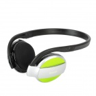 BH-501 Bluetooth Wireless Stereo Headset Headphone w/ Microphone - Black + Silver + Greenish Yellow