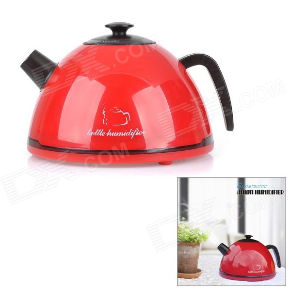 Creative Kettle Shaped Ultrasonic Air Humidifier - Red (400ml)