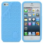 3D Melting Ice Cream with Cute Bear Pattern Protective Silicone Back Case for iPhone 5 - Blue