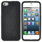 3D Melting Ice Cream with Cute Bear Pattern Protective Silicone Back Case for iPhone 5 - Black