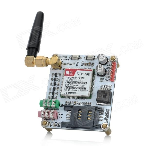 EFCom Pro Wireless 850/900/1800/1900MHz GPRS/GSM Module w/ Antenna - White gsm gprs shield wireless extension board module w antenna adapter for arduino