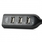 M6988-B Style High Speed 480Mbps 4-Port USB 2.0 Hub - Black (40cm)