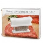 Stainless Steel 48-Teeth Meat Tenderizer - White