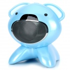 i60B Cute Dog Stil Bluetooth V2.1 Stereo Speaker w / TF / FM Radio - Light Blue