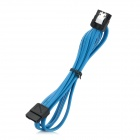 Double Hasp Straight Head SATA II Data Cable - Blue (80cm)