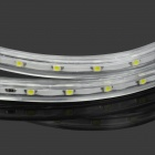 4.8W 240lm 6500K 60-SMD 3528 LED White Light Flexible Lamp Strip w/ 2-Flat-Pin Plug - Transparent