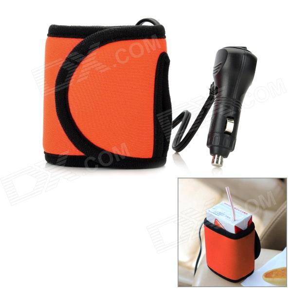 Vacarx VA-782 Car Feeder Bottle Drink Heating Slipcover - Orange (DC 12V)