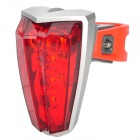 3-Mode 5-LED Red Light Bike Safety Alarm Light (2 x AAA)