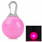 Safety Pink Flashing LED Clip-On Pet Collar Pendant Light - Pink (2 x CR2016)