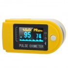 1.0&quot; LCD Fingertip Pulse Oximeter SpO2 Monitor - Yellow + White + Black (2 x AAA)