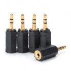 3.5mm Male to 2.5mm Female Audio Adapter - Black (5 PCS)