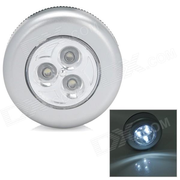 3-LED Touch Control White Light - Silver