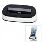 8-Pin Lightning Charging Dock Station for iPhone 5 - White + Black