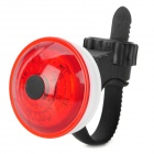 LC-7001 3-Mode 5-LED Red Light Bicycle Cycling Tail Light - Red + White (3 x LR44)