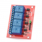 4-CH 12V Power Relay Module - Red + Blue