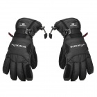 ACACIA Outdoor Sports Skiing / Cycling Full Finger Waterproof Warmer Gloves - Black (Size L)