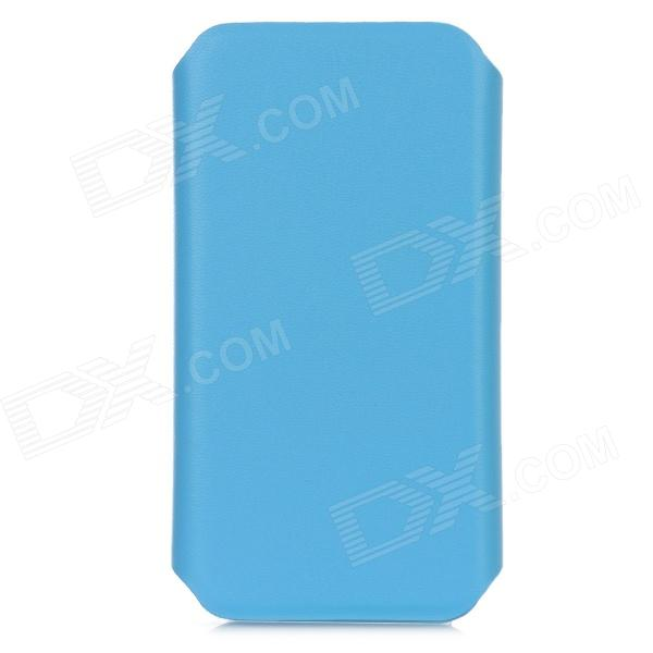 Protective 360 Degree Rotating Holder PU Leather Case for Iphone 5 - Blue