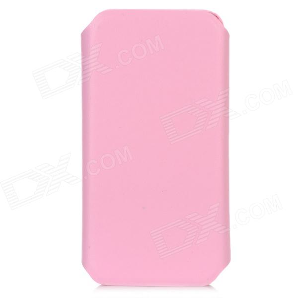 Protective 360 Degree Rotating Holder PU Leather Case for Iphone 5 - Pink protective 360 degree rotation holder pu leather case for samsung p6800 p6810 pink