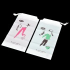 Lover Pattern Travel / Household Underwear Storage Bag - White + Green + Pink (2 PCS)