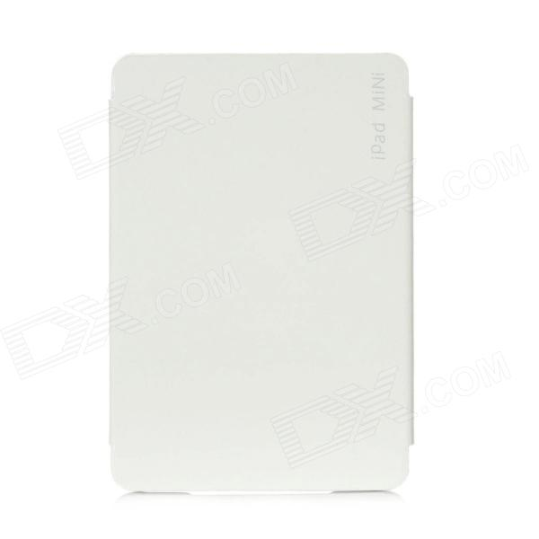 Protective PU Leather Case for iPad Mini - White