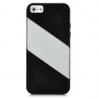 Ultra-thin Translucent Protective PC Bumper Frame Back Case w/ Screen Guard for Iphone 5 - Black