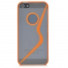 Protective Bumper Frame Case w/ Screen Guard for Iphone 5 - Orange