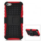 Square Grid Pattern Protective Plastic Back Case w/ Stand for Iphone 5 - Red +Black