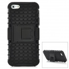 Square Grid Pattern Protective Plastic Back Case w/ Stand for Iphone 5 - Black