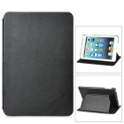 Protective 2-Layer Leather Stand Case for iPad Mini - Black