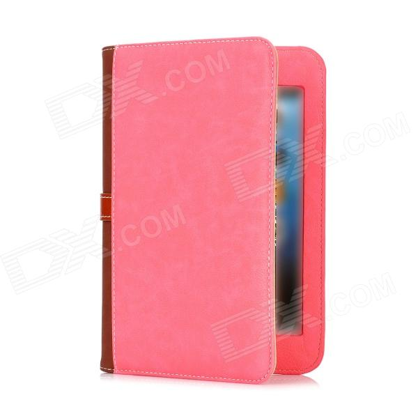 Briefcase Style Protective PU Leather Stand Case w/ Dormancy Function for Ipad MINI - Pink