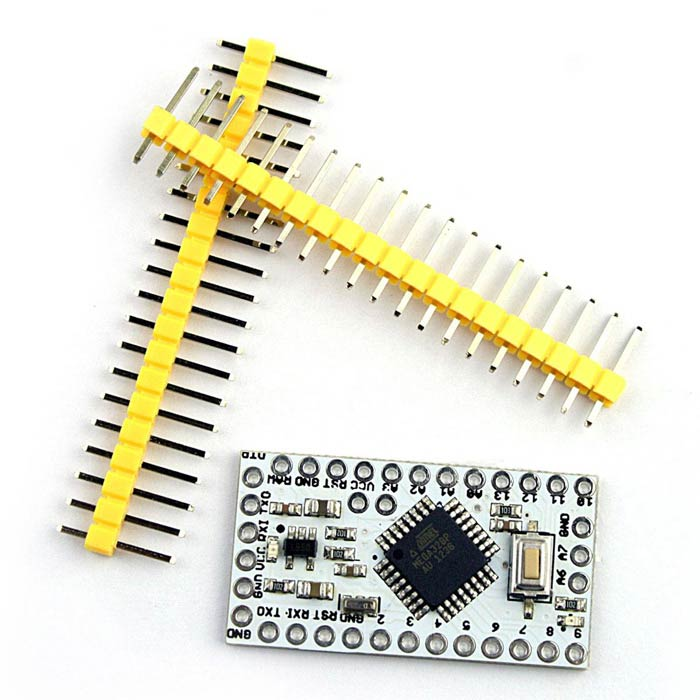 New Version Pro Mini Atmega328P Microcontroller Board - White