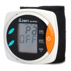 iLian KP-6250 4'' LCD Digital Automatic Wrist Style Blood Pressure Monitor - White + Black (2 x AAA)