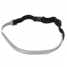 Sports Fitness Rubber Sweat Headband - Black + Grey