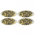 MAXDONA YYT-7-1 Cosmetic Leopard Style Instant Eyeshadow Stickers - Black + Yellow (2 Pair)
