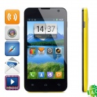 "LANSTAR L518 Android 4.0 Bar Phone w/ 4.3"" Capacitive Screen, Dual-Band, Wi-Fi and Dual-SIM - Yellow"