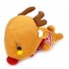 KSQ002 Car Dekorieren Bambuskohle Deer Toy Geruchsabsorber - Brown + Red