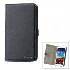 Cross Pattern Protective PU Leather Case for Samsung Galaxy Note 2 N7100 - Black