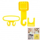 Plastic Car Seat Back Bag Bottle Holder - Yellow (3 PCS)