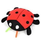 KSQ005 Car Decorate Bamboo Charcoal Sevenspotted ladybugs Toy Odor Absorber - Red + Black