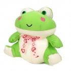 KSQ009 Car Decorate Bamboo Charcoal Frog Toy Odor Absorber - Green + White