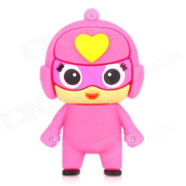 Cartoon USB 2.0 Flash Drive - Pink + Yellow (8GB) usb flash drive