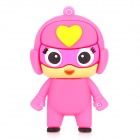 Cartoon USB 2.0 Flash Drive - Pink + Yellow (8GB)