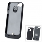 2000mAh Mobile Power Backup Battery + Plastic Case for iPhone 5 - Black