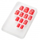 Christmas Deer Style Nail Art Decorative Artificial Nail Tips - Red (12 PCS)