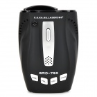 "GRD-750 1.8"" Display 360 Degree Radar Detector w/ Car Charger - Black (Russian Version)"