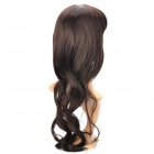 Sweet Cute Lady's Neat Bang Long Curly Wig - Brown + Black