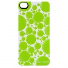 iEasypatch Soft Foam 3D Back Sticker for Iphone 4 / 4S - Green + White