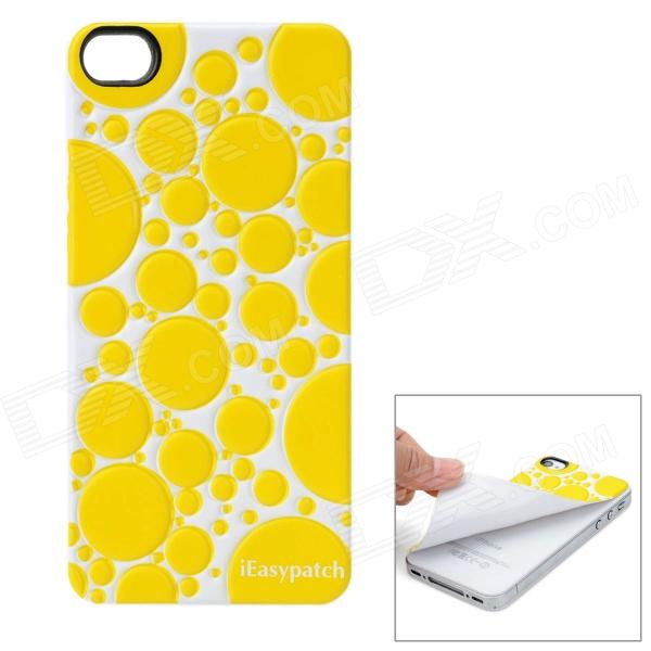 iEasypatch Soft Foam 3D Back Sticker for Iphone 4 / 4S - Yellow + White