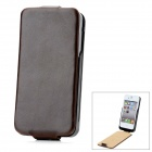 iFans 1800mAh Rechargeable External Battery Back PU Leather Case for iPhone 4 / 4S - Deep Brown